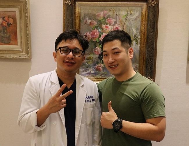 術後6個月回診,林先生可明顯感受前額髮量變多