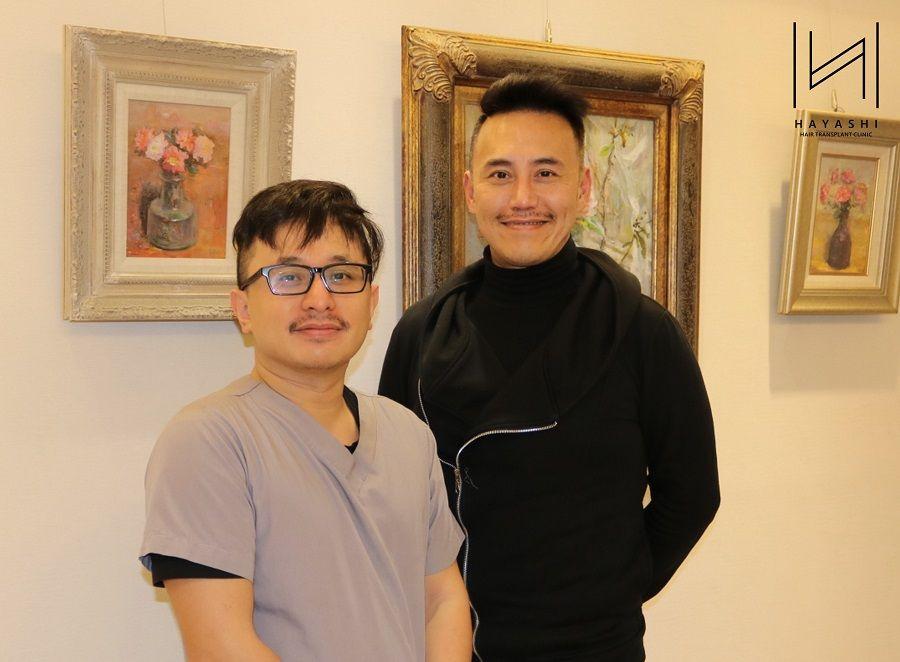 植眉手術前與林俊志醫師合照